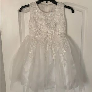 Vichidary Girls Tulle Lace Formal Dress